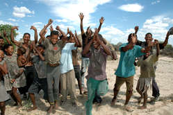 Kalahari Bushmen Celebrating